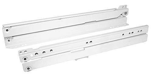 HKB Schubladenschiene Vollauszug 300mm Rollschubführung für Schubladen, hohe Tragkraft, weiß, Hersteller Sencys, Artikel-Nr. 51410