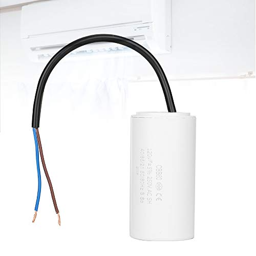 Acogedor 120uF 50/60Hz Run Capacitor,CBB60 Run Capacitor with Wire Lead,Insulation,Heat Resisting,Explosion-Proof,Low Loss and Low Impedance,for Air Conditioners, Compressors,Motors
