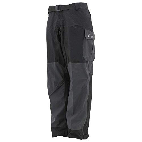 FROGG TOGGS Men's Pilot II Guide Pant, Black/Charcoal, Small