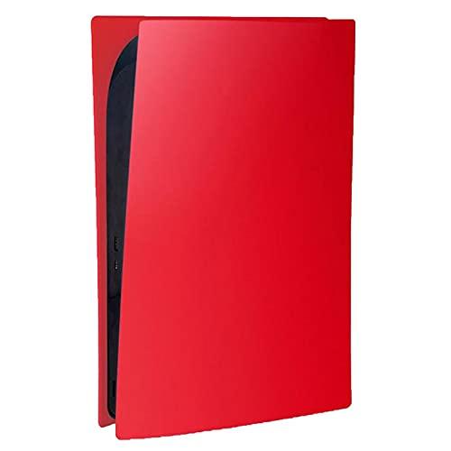 QiKun-Home Paneles de edición Digital Placa Frontal Fundas de Silicona Funda de Piel de Repuesto para Accesorios de Juegos PS5 Kits de Jugador Rojo