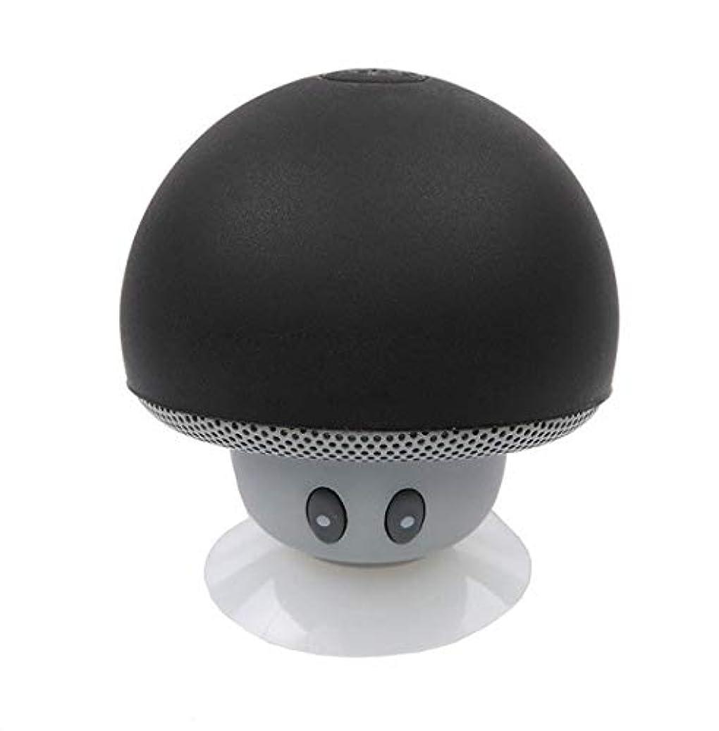 プレーヤーハイジャック不正確ショットケースマッシュルームBluetoothスピーカーOnePlus Oneスマートフォンサクションカップスピーカーマイクロミニブラック
