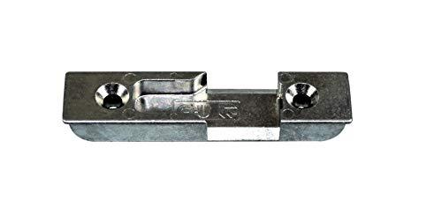 GU Haustür Schließblech/Schließplatte GU-27864 (9-27864-00-0-1) für Rollzapfen zum einfräsen incl. SN-TEC Montagematerial