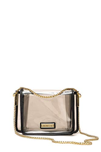 Twin Set Damen Umhängetasche Bea Bag Schwarz/Transparent