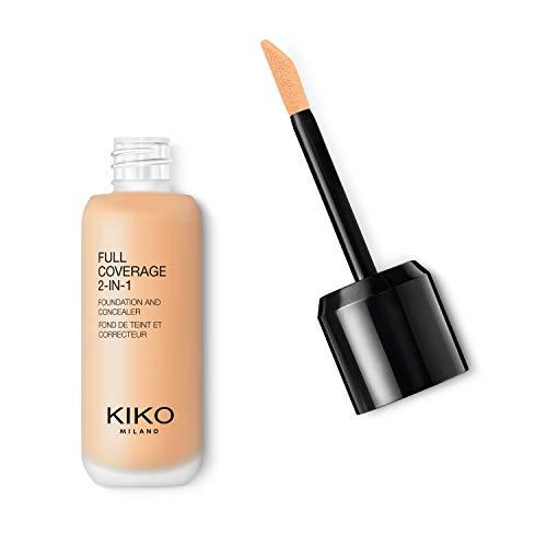 Kiko Milano Full Coverage 2-In-1 Foundation & Concealer 06 - WB 15 | Base de Maquillaje y Corrector 2 en 1, Alta Cobertura