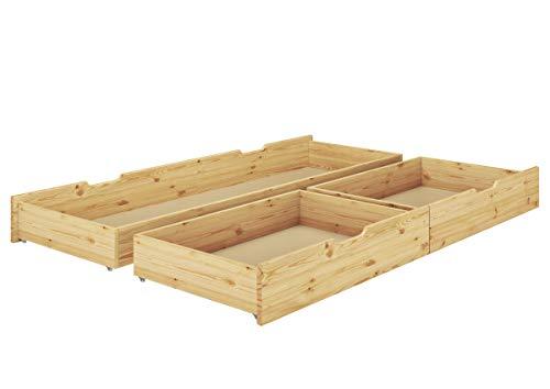 Tre scatole sotto Letto Porta Oggetti per i Nostri Letti 140x200 in Pino Laccato 90.10-S8