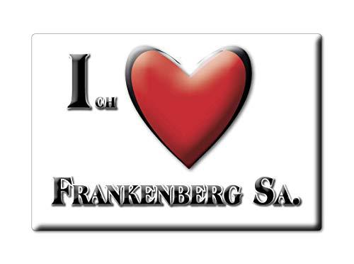 Enjoymagnets FRANKENBERG SA. (SN) Souvenir Deutschland Sachsen Fridge Magnet KÜHLSCHRANK Magnet ICH Liebe I Love