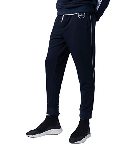 ARMANI EXCHANGE 8nzp91 Pantaloni Sportivi, Blu (Navy 1510), W46 (Taglia Produttore: X-Small) Uomo