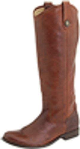 Frye Womens Melissa Button Leather Closed Toe Knee High, Cognac, Size 7.0