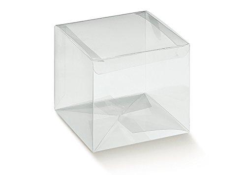 Caja transparente PVC acetato mm.80x 80x 110pz.50