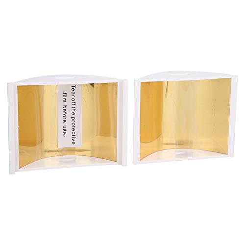 Amplificador de señal de control remoto, extensor de señal de antena blanca de plástico, espejo dorado de alta reflectividad 8x7x7cm 1 par para FIMI X8 SE Promoción de vuelo más seguro(white)