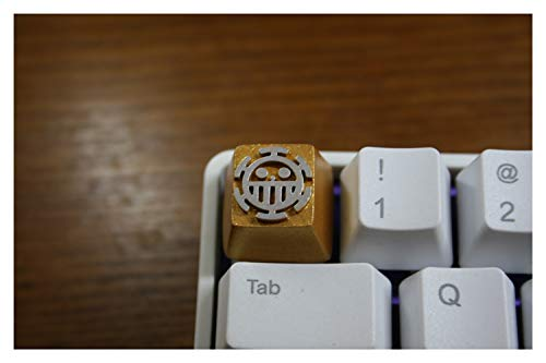 JCMY Keycaps Hecha a Mano 1pc Resina Clave Teclado Cap 3D estereoscópica mecánica tecla Clave for un Pedazo de la Muerte del Doctor para computadora, hogar, Oficina. (Color : Orange)