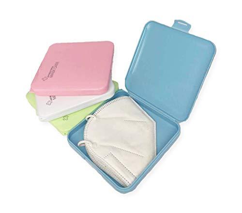 Haioo 4 Unidades de Caja de Mascarillas de Plástico Almacenamiento de Mascarillas Cajita Porta Máscaras Caja para Guardar Mascarilla Evitar Contaminación y Polvo (Multicolor)