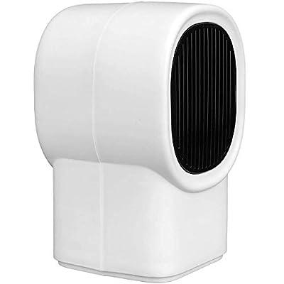 Homedoor Mini Electric Heater Portable Home Warmer Fast Heating Fan Desktop Warm Air Blower Radiator for Winter Household(color: white)