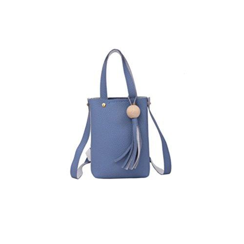 WITERY Mini Sac Bandouliere Petit Pochette T/él/éphone Portable en Canevas Sac de Poignet Zipp/é Porte-Monnaie Filles Femmes pour Course Shopping Bleu