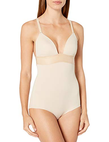 Maidenform Endlessly Smooth Plunge BodyBriefer-Body Modellante Donna Beige...