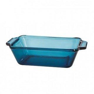 Anchor Hocking Glass 9X5 Bread Loaf Pan - Rio Coastal Blue
