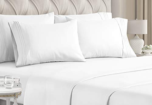 CGK Unlimited King Size Sheet Set - 6 Piece Set - Hotel Luxury Bed Sheets