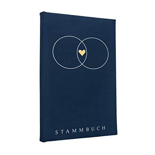 Hochzeitideal Stammbuch der Familie \'Serie \'Alan\' Leinen dunkelblau