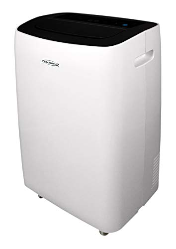 SoleusAir 10,000 BTU Portable Air Conditioner with MyTemp Remote Control, Room up to 350 sq. ft, White