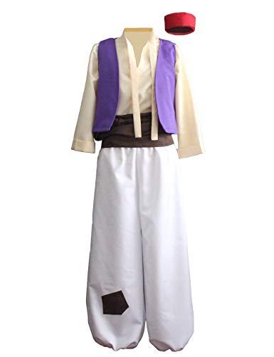 Ainiel Men's Arabian Prince Costume Aladdin Street Rat Suits (L)
