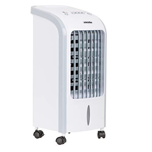 Mesko MS7914 Luftkühler, Ventilator, Luftbefeuchter, 3 in 1, effizienter Verbrauch, 75 W, tragbar, 3 Leistungsstufen, 4 Liter, Weiß/Grau