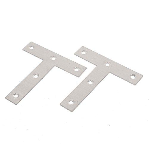 IIVVERR 4 piezas 3.150in x 3.150in x 0.630in metal en forma de T placa plana esquina soporte ángulo abrazadera (4 piezas 3.150in x 3.150in x 0.630in de metal en forma de T placa plana esquina ángulo abrazadera soportes