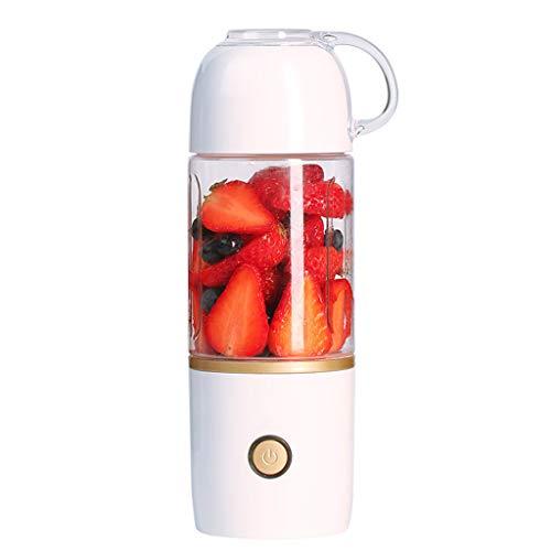 Sisyria USB inalámbrico portátil Mini licuadora, Exprimidor eléctrico Recargable Copa Multifuncional Vegetal de la Fruta Mezclador Fuerte Poder de la trituradora de Hielo Blanca