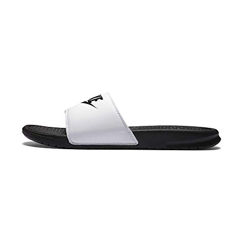 Nike Benassi Just Do It, Ciabatte Uomo, Bianco (White), 46 EU
