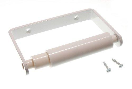 50 X Toilet Roll Holder blanc avec le rouleau et Vis Blanc