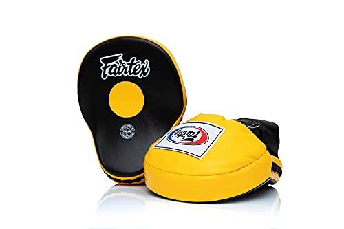 Fairtex Contoured Focus Punch Pad Mitts (Black/Yellow)