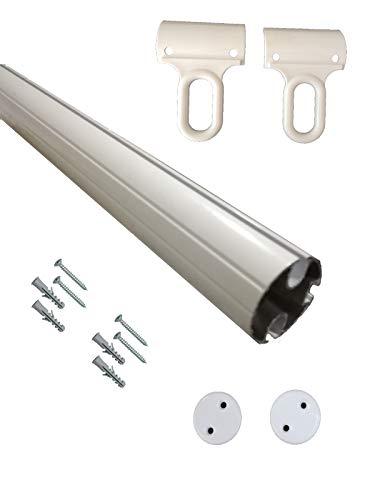 TENDAGGIMANIA Kit de perfil de barra final de aluminio,...