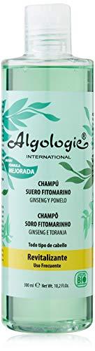 Algologie International Champú Suero Fitomarino, Revitalizante, con Ginseng y Extractos de Pomelo, Mango, Limón y Maracuyá - 300 ml