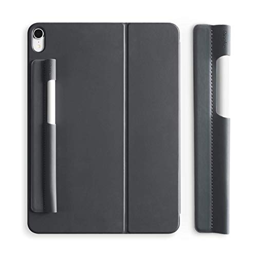 Ringke Pen Sleeve [Charcoal Gray] Compatible with Apple Pencil (1st and 2nd Gen) Holder 3M Adhesive Sticker Pocket Case for iPad Pro 12.9/11/10.5/9.7 & iPad/iPad Air Stylus