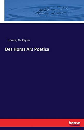 Des Horaz Ars Poetica