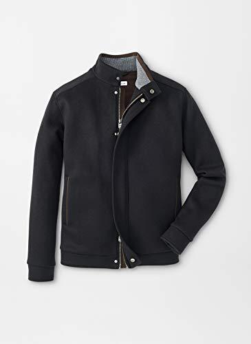 Find Discount PETER MILLAR Crown Flex-Fleece Bomber Wool Coat MF19Z21 Black – XL