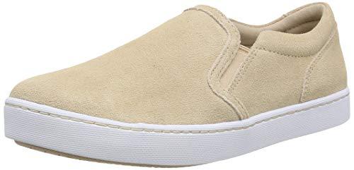 Clarks Damen Pawley Bliss Slip On Sneaker, Blau (Blush Suede Blush Suede), 39.5 EU