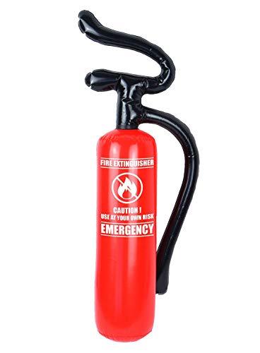 Hi Fashionz Bambini Fire Fighter Costume Estintore Adulti Fireman Accessori Cosplay Gonfiabile Estintore 70 x 17 cm One Size