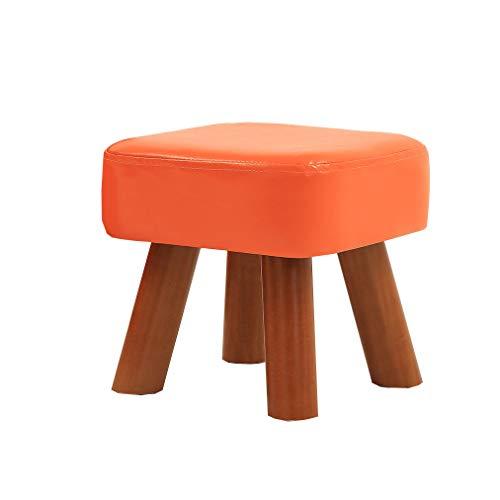 Rnalley Banc De Chaussure en Bois Massif À La Mode - Home Chair - Tabouret pour Enfant - Tabouret Créatif - Poids De l'ourson 100Kg,Orange