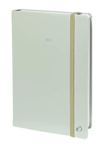 Quo Vadis 015846Q Anno 2021 MINISTRO IT Pastel verde CR elast Agenda settimanale Dic/Dic ANNO CIVILE 16 x 24 cm