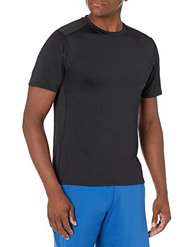 Amazon Essentials Men's Tech Stretch Short-Sleeve Performance T-Shirt, black, X-Large