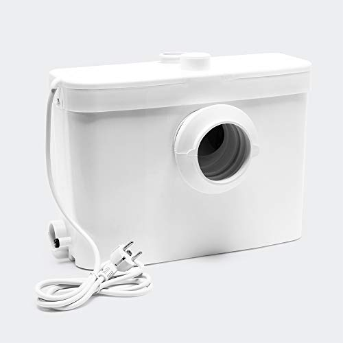 Triturador Sanitario WilTec 3/1 con conexión frontal 450W vacuación aguas residuales y fecales WC