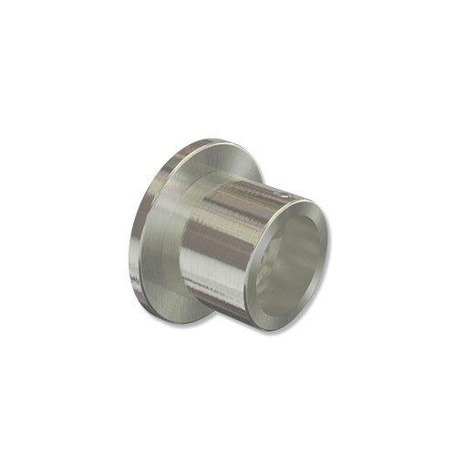 INTERDECO Gardinenstangen Wandlager/Seiten-Wandhalter/Nischen-Träger Edelstahl Optik 20 mm Ø (2 Stück)