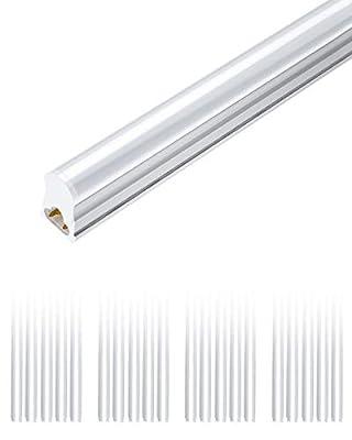 SHINESTAR 20-Pack T5 LED Shop Lights 4FT, Integrated Single Light Fixture 20W 2200lm, 6500K Super Bright Tube Lights for Garage, Workshop, Basement, Plug and Play