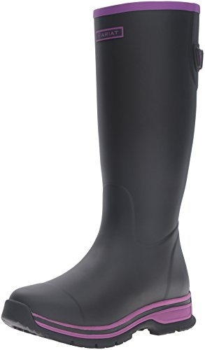 Ariat Women's Fernlee Rain Boot, Black, 9 B US