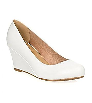 Forever Doris-22 Wedges Pumps-Shoes mve Shoes Doris 22 White pu Size 8