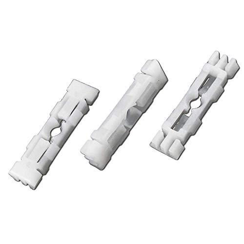 10 x Seat Dachleistenclips Klips Klammer Weiß 6K0867838 357867646 6U0853733 191853733A