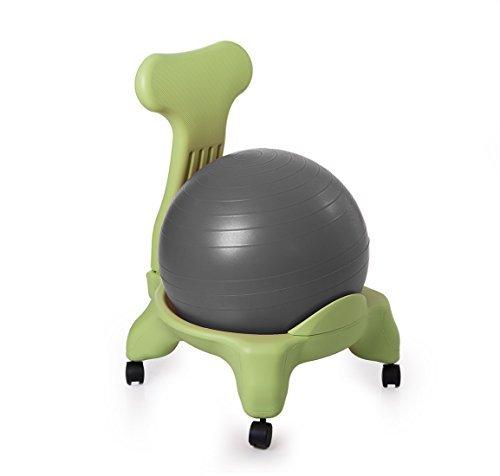 Kikka Active Chair Verde con Palla Grigia - Sedia ergonomica con Pallone Gonfiabile