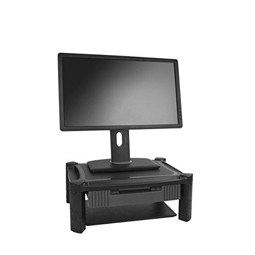 StarTech.com Monitorständer mit Schublade - Höhenverstellbar - Unterstüzt bis zu 32 Zoll Monitore (10 Kg)
