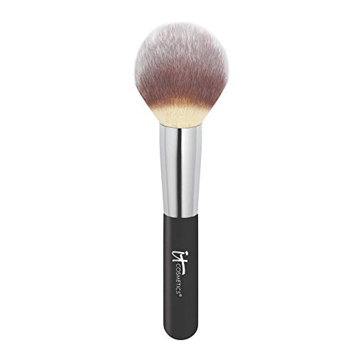 of powder brushes dec 2021 theres one clear winner IT Cosmetics Heavenly Luxe Wand Ball Powder Brush #8 - Soft, Rounded, Tapered Brush - For Loose & Pressed Powder - Poreless, Optical-Blurring Finish - With Award-Winning Heavenly Luxe Hair