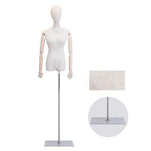 Barture Mannequin De Couture Buste De Femme Vitrines Boutique Ajustable Détachable for Le Présentoir d'habillement (Color : A)